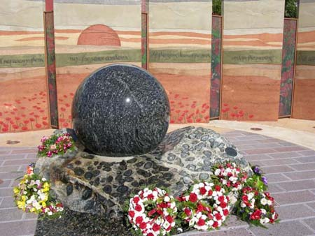 Garnet Ice Sphere at Ballajura War Memorial and Peace Park