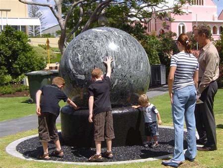Bunbury Floating Stones display